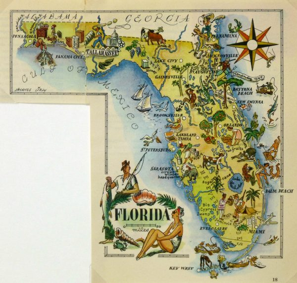 Pictorial Map - Florida, 1946-main-6283K