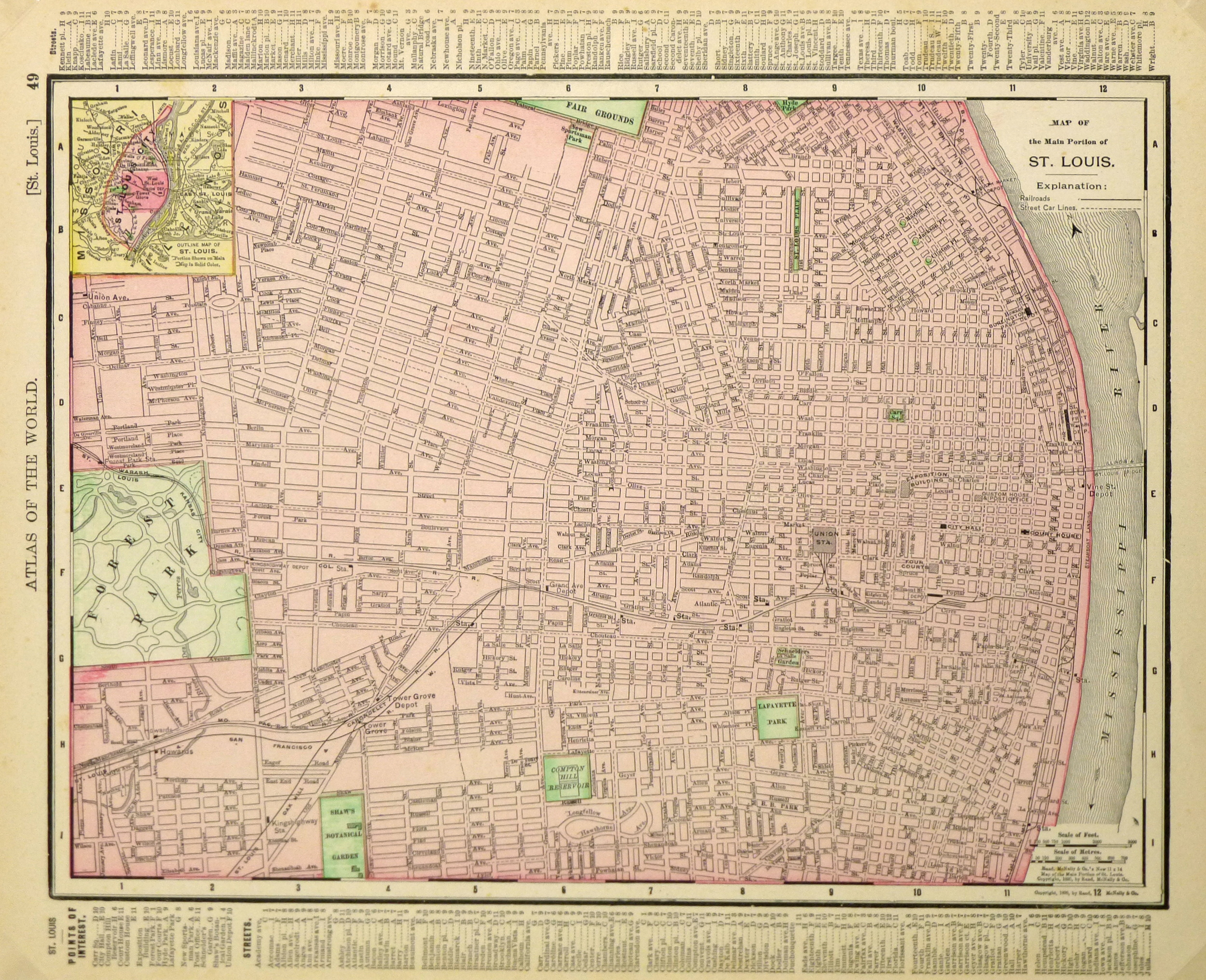 St. Louis Map,1895-main-6435K