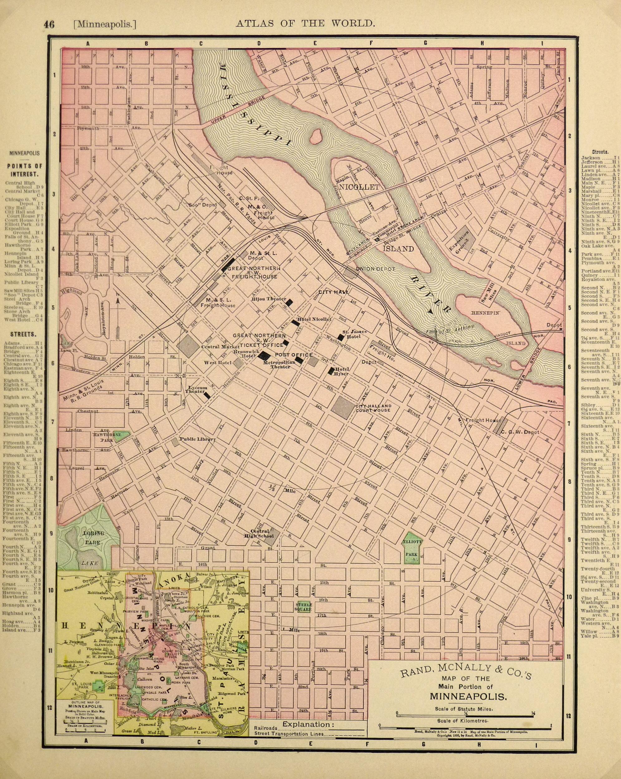 Minneapolis Map, 1895-main-6437K