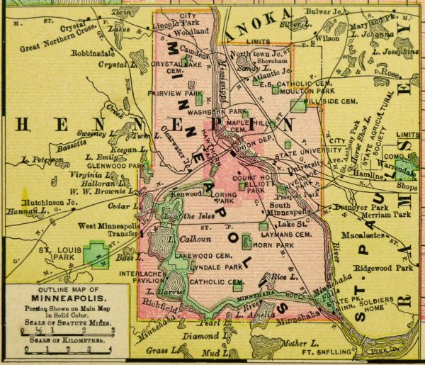 Minneapolis Map, 1895-detail-6437K
