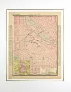 Minneapolis Map, 1895-matted-6437K