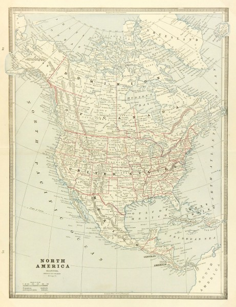 North America Map, 1890-main-6479K