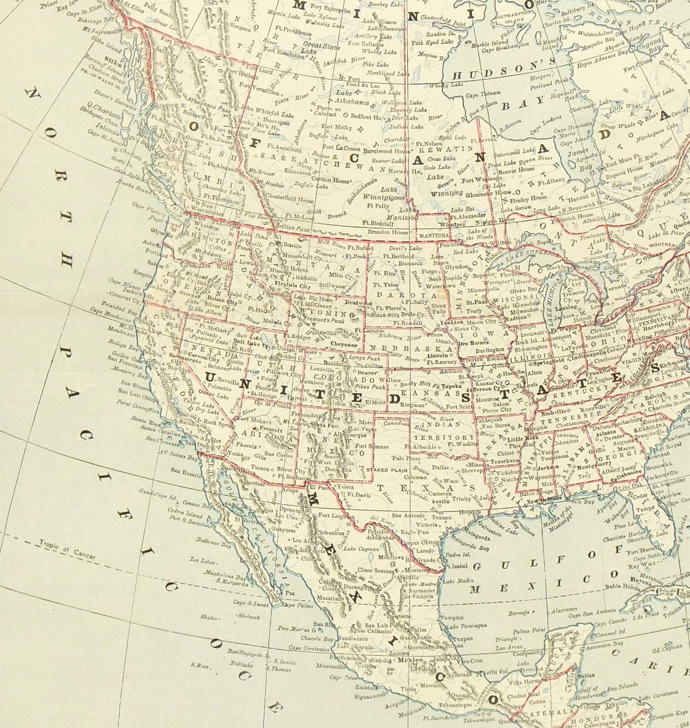 North America Map, 1890-detail-6479K