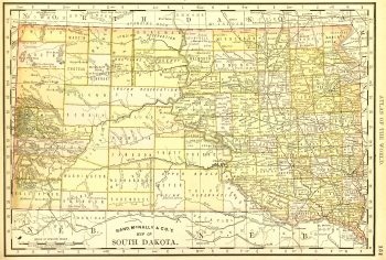 Map - South Dakota, 1889-main-6515K