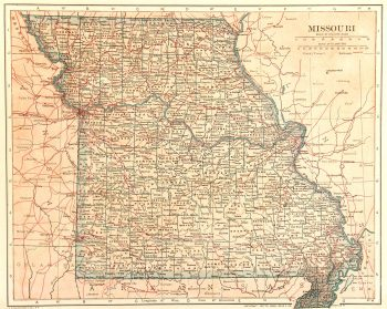 Missouri Map, 1907-main-6532K