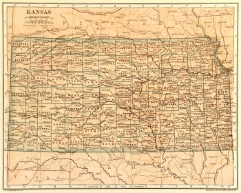 Map of Kansas, 1907-main-6534K