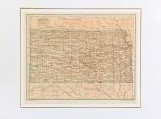 Map of Kansas, 1907-matted-6534K