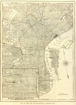Philadelphia Map, 1908-main-6537K