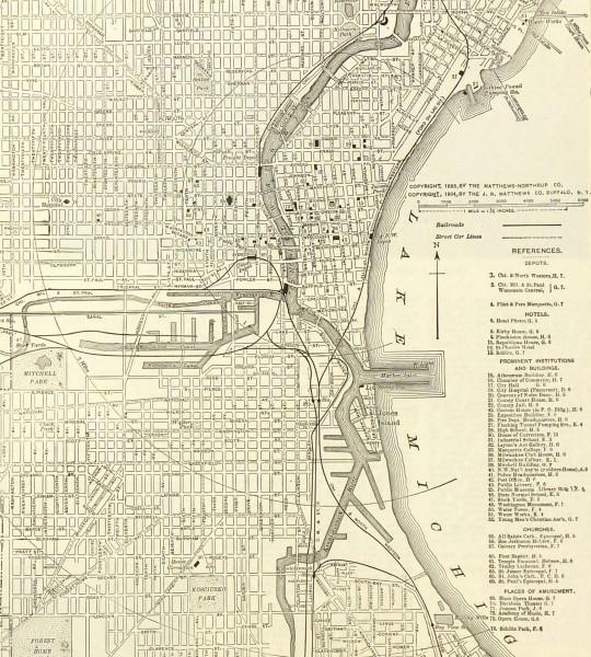Milwaukee map-detail-6542K