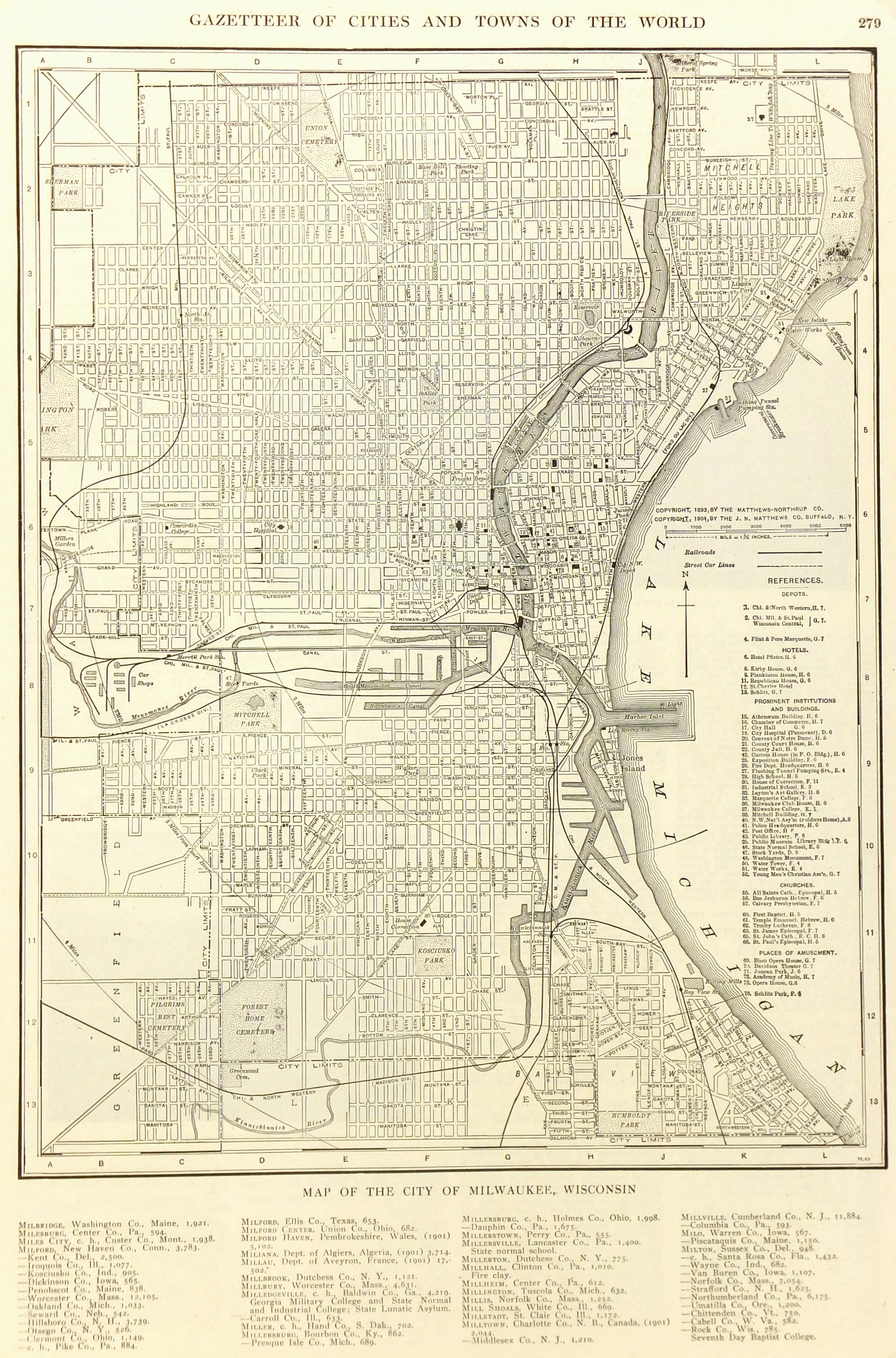 Milwaukee map-main-6542K