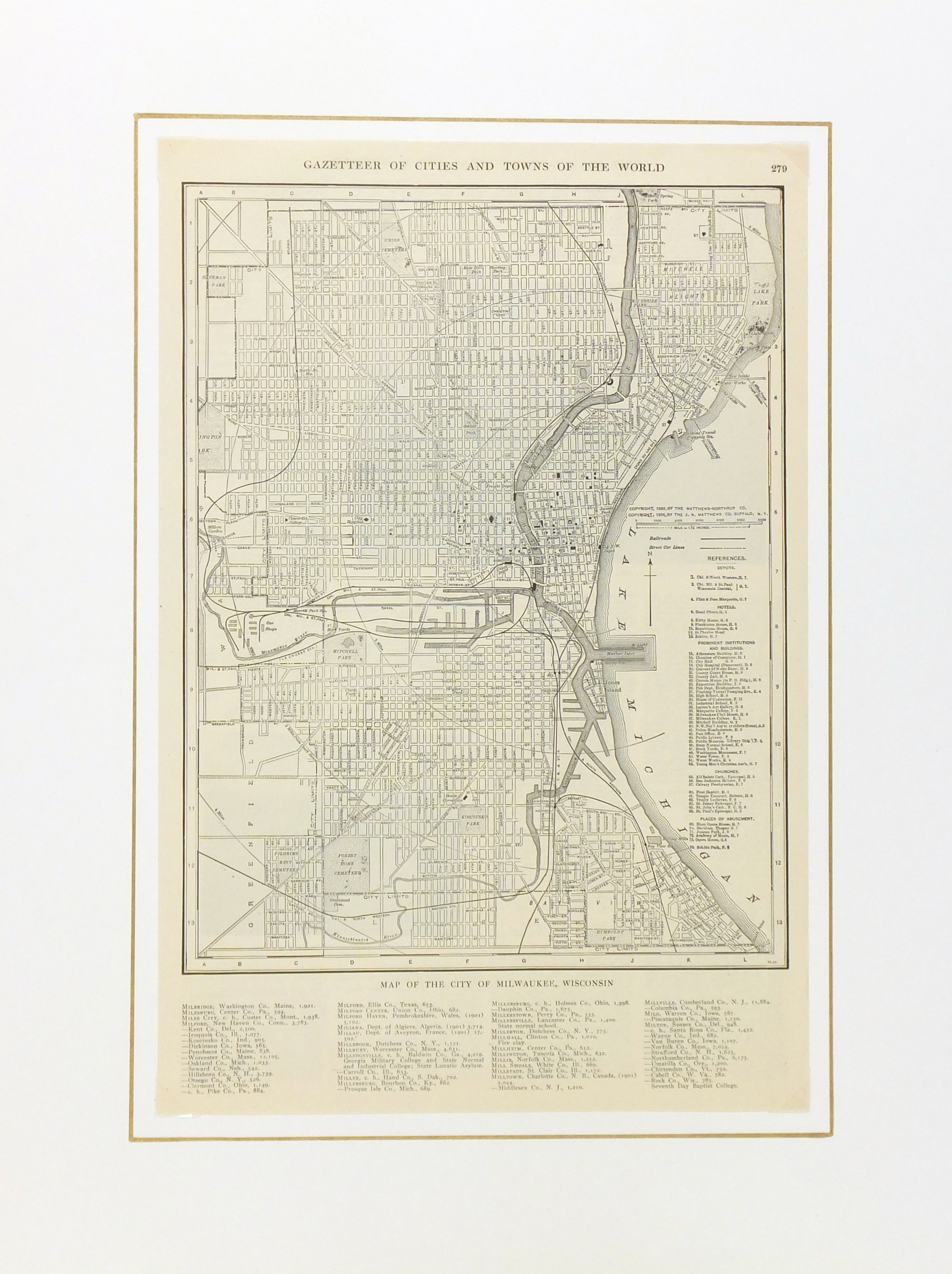 Milwaukee map-matted-6542K