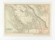 British Columbia, Canada Map, 1895-matted-6587K