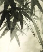 Chinese Serigraph - Bamboo Stalks-detail-6619K