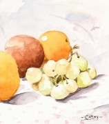 Watercolor Still Life- Season Harvest-detail 2-7017K