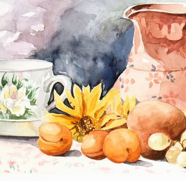 Watercolor Still Life- Season Harvest-detail-7017K