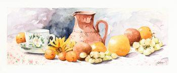 Watercolor Still Life- Season Harvest-main-7017K