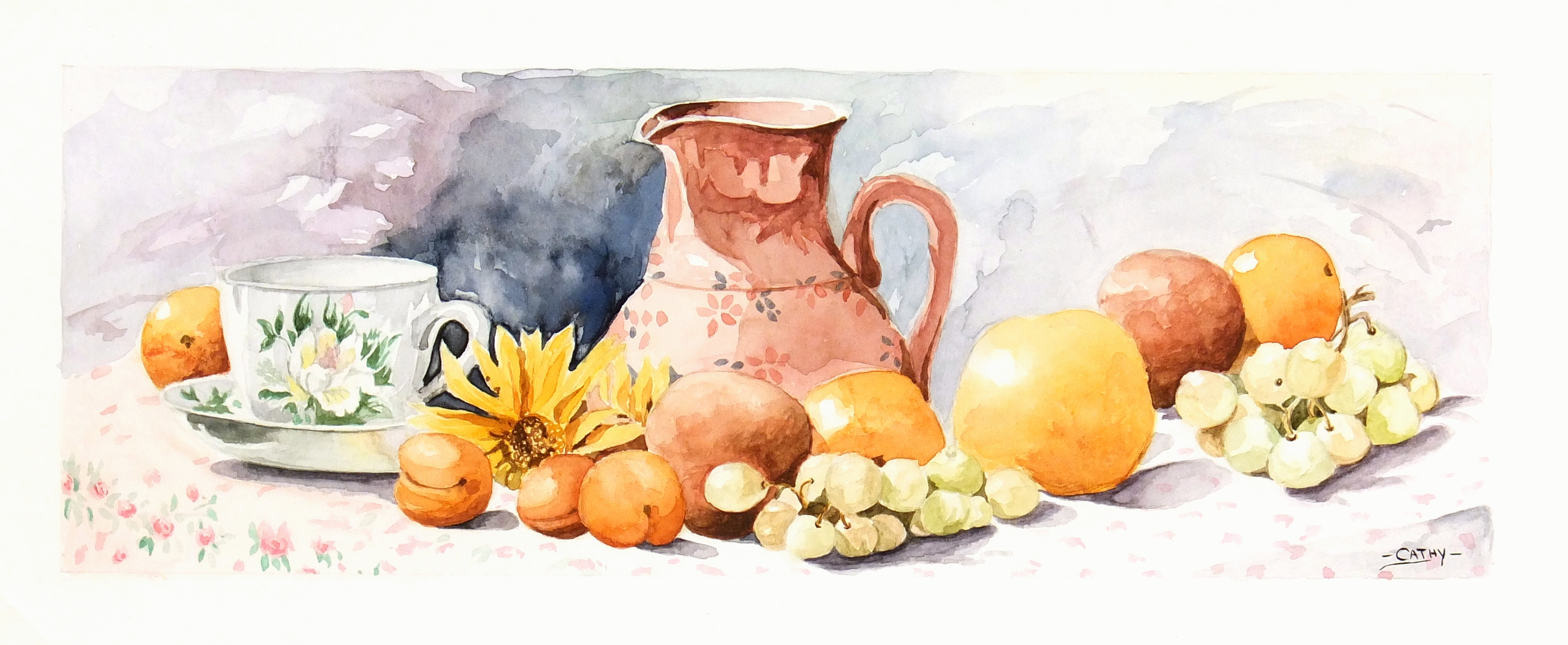 Watercolor Still Life- Season Harvest-main-7017K