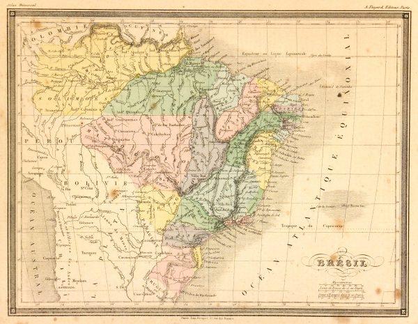 Brazil Map, 1877-main-7303K