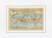 World Map, 1877-Matted-7313K