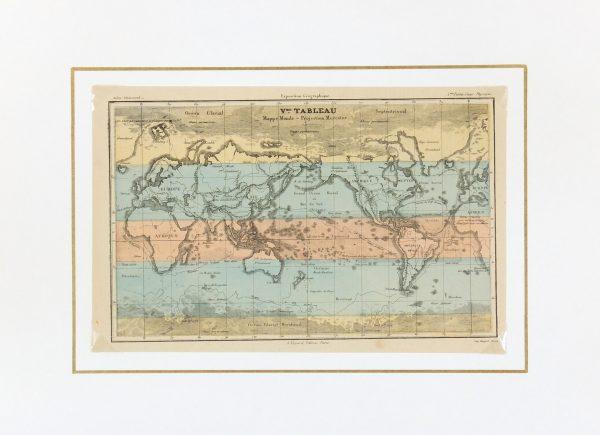 World Map, 1877-Matted-7313K