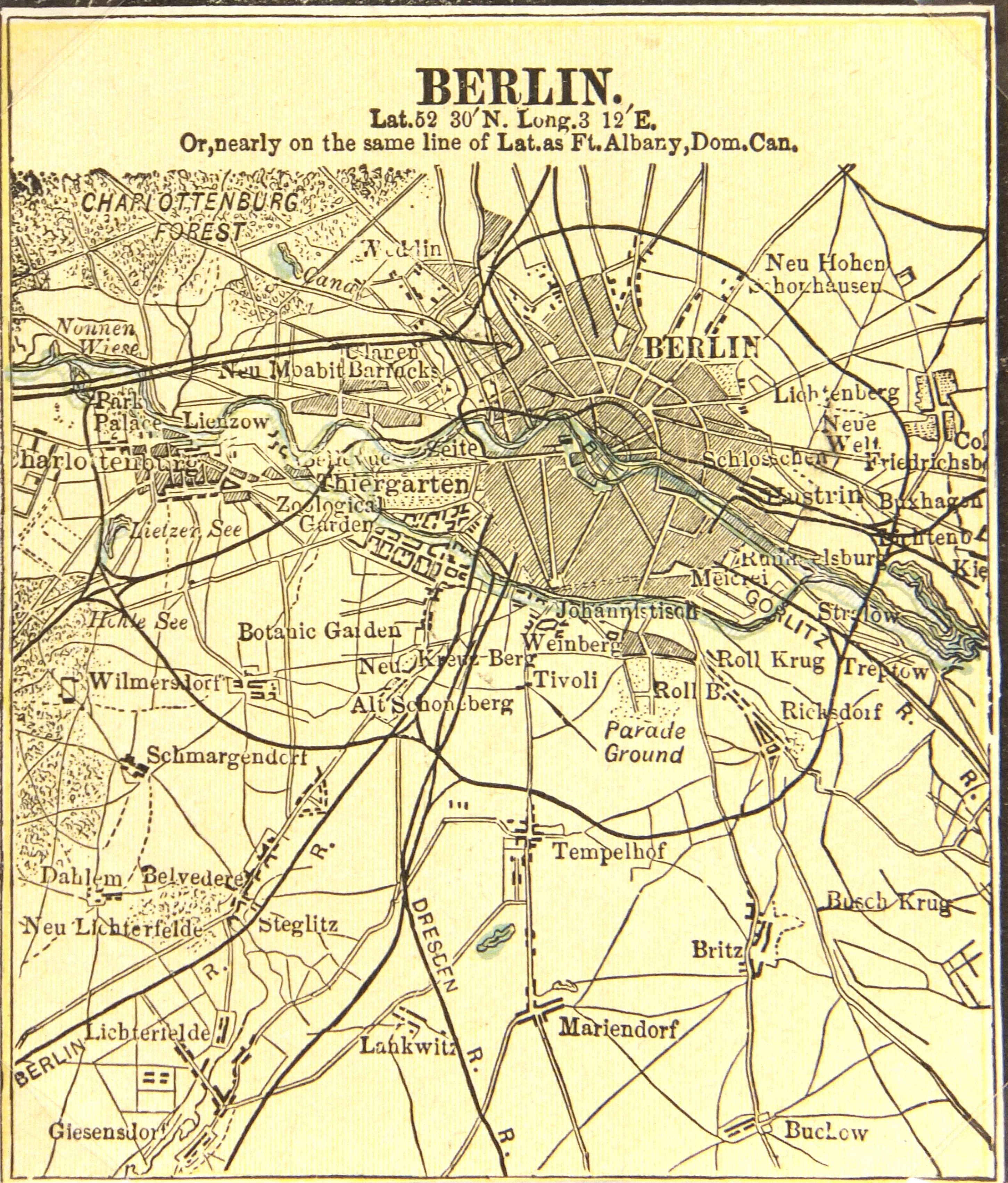 Berlin Map, 1889-main-7330K