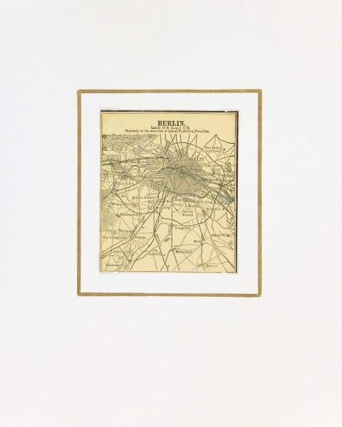 Berlin Map, 1889-matted-7330K