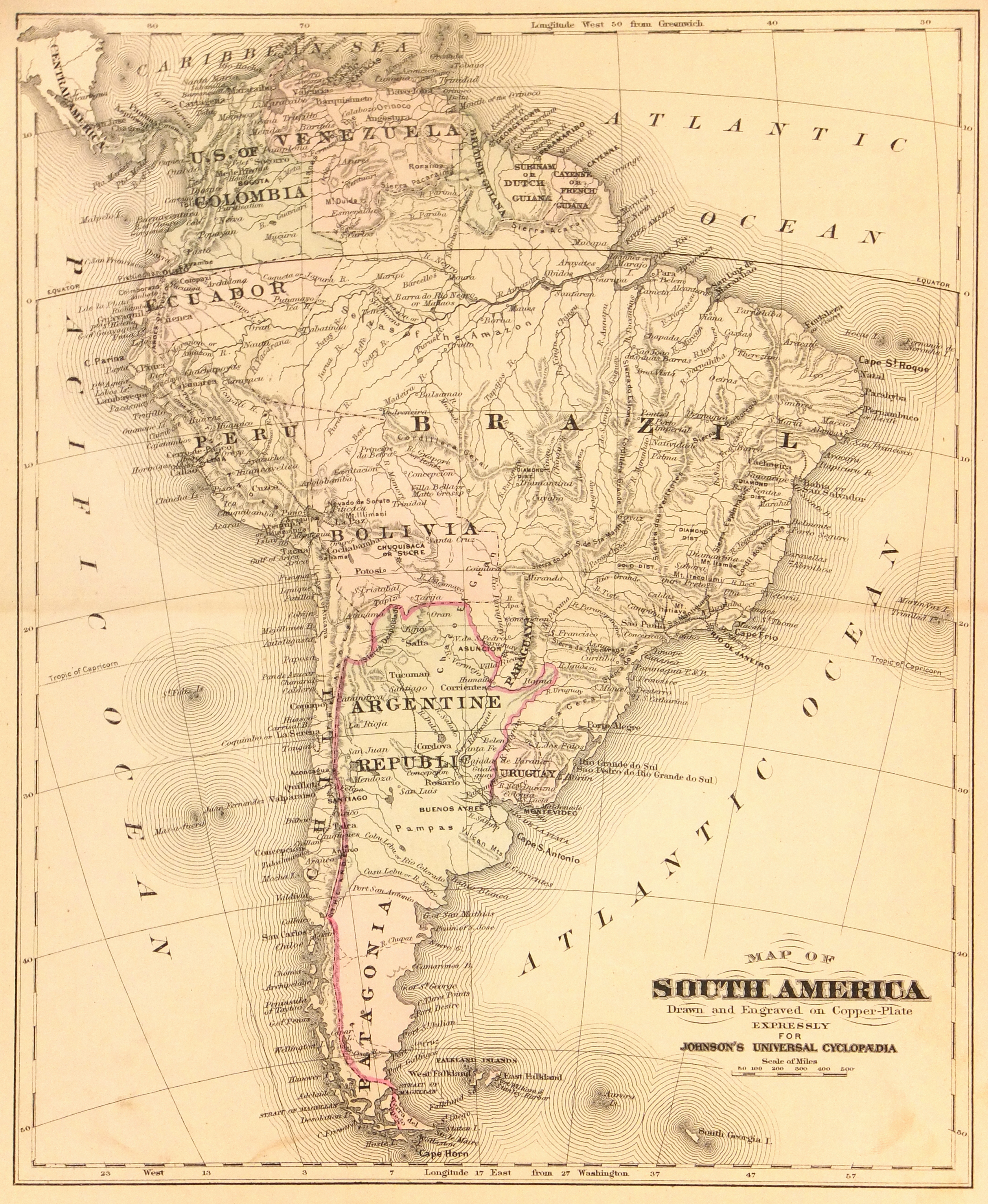 South America Map, 1885 on landscape map of south america, industrial map of south america, agricultural map of south america, soil map of south america, peopling of south america, physical map of south america, geographical center of south america, grand tour of south america, natural map of south america, tectonic map of south america, linguistic map of south america, land use map of south america, map of volcanoes in north america, location of patagonia in south america, circumnavigation of south america, earthquake map of south america, precambrian north america, historic map of south america, thermal map of south america, large map of south america,