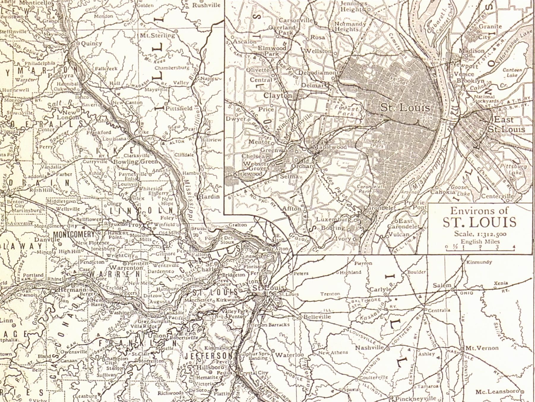 Missouri Map, 1910-detail-7403K