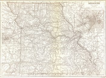 Missouri Map, 1910-main-7403K