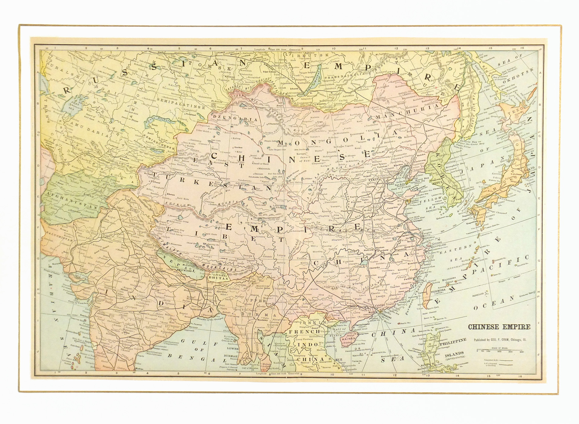 Chinese Empire, 1901-matted-7620K