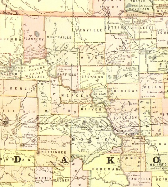 Dakota Territory Map, 1885-detail-7625K