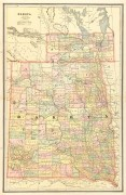 Dakota Territory Map, 1885-main-7625K