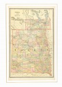 Dakota Territory Map, 1885-matted-7625K