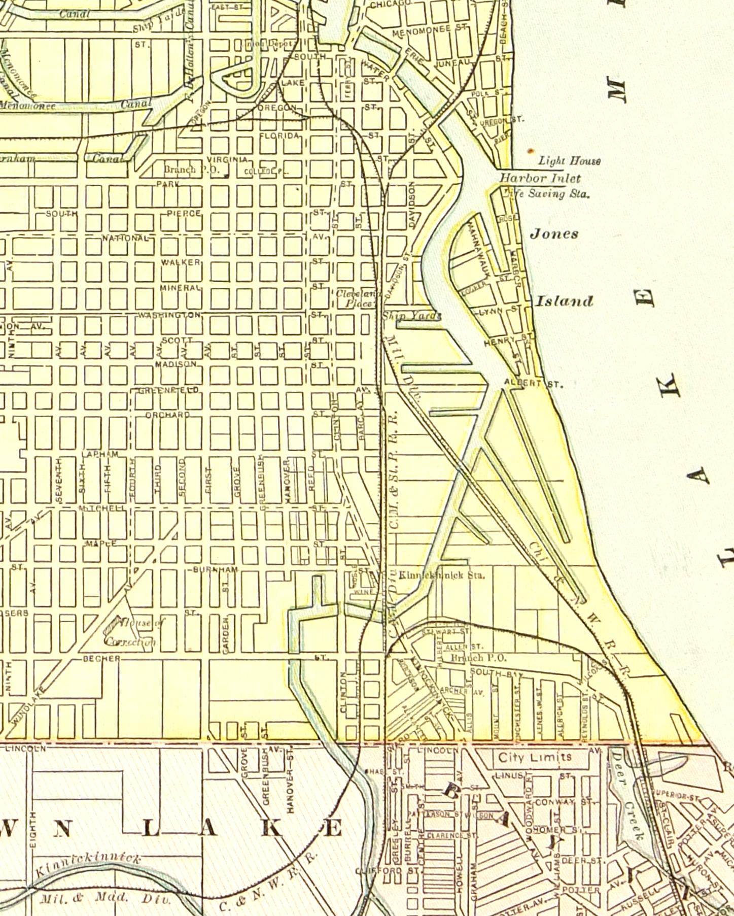 Milwaukee Map,1889-detail-7648K