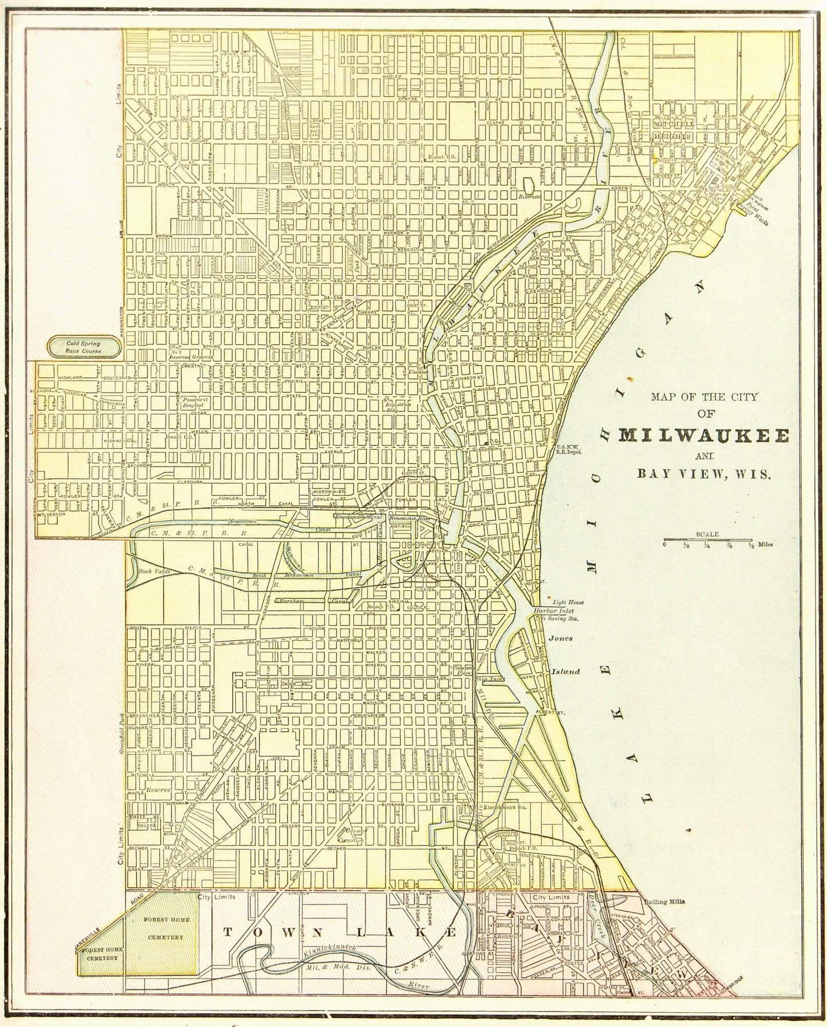 Milwaukee Map,1889-main-7648K