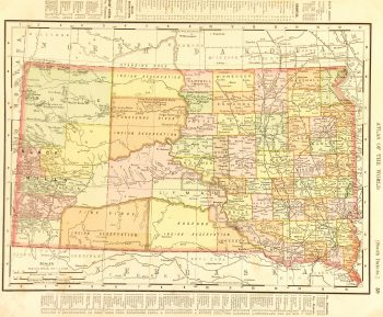 Map - South Dakota, 1901-main-7721K
