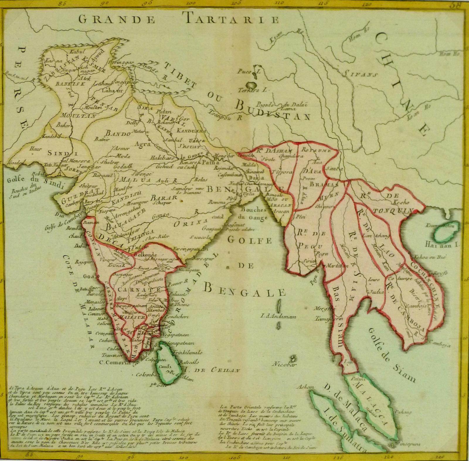 India Map Asia.Antique Map India Southeast Asia 1767