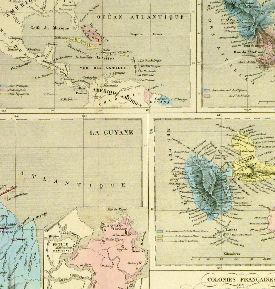 French American Colonies, 1860-detail-8123K