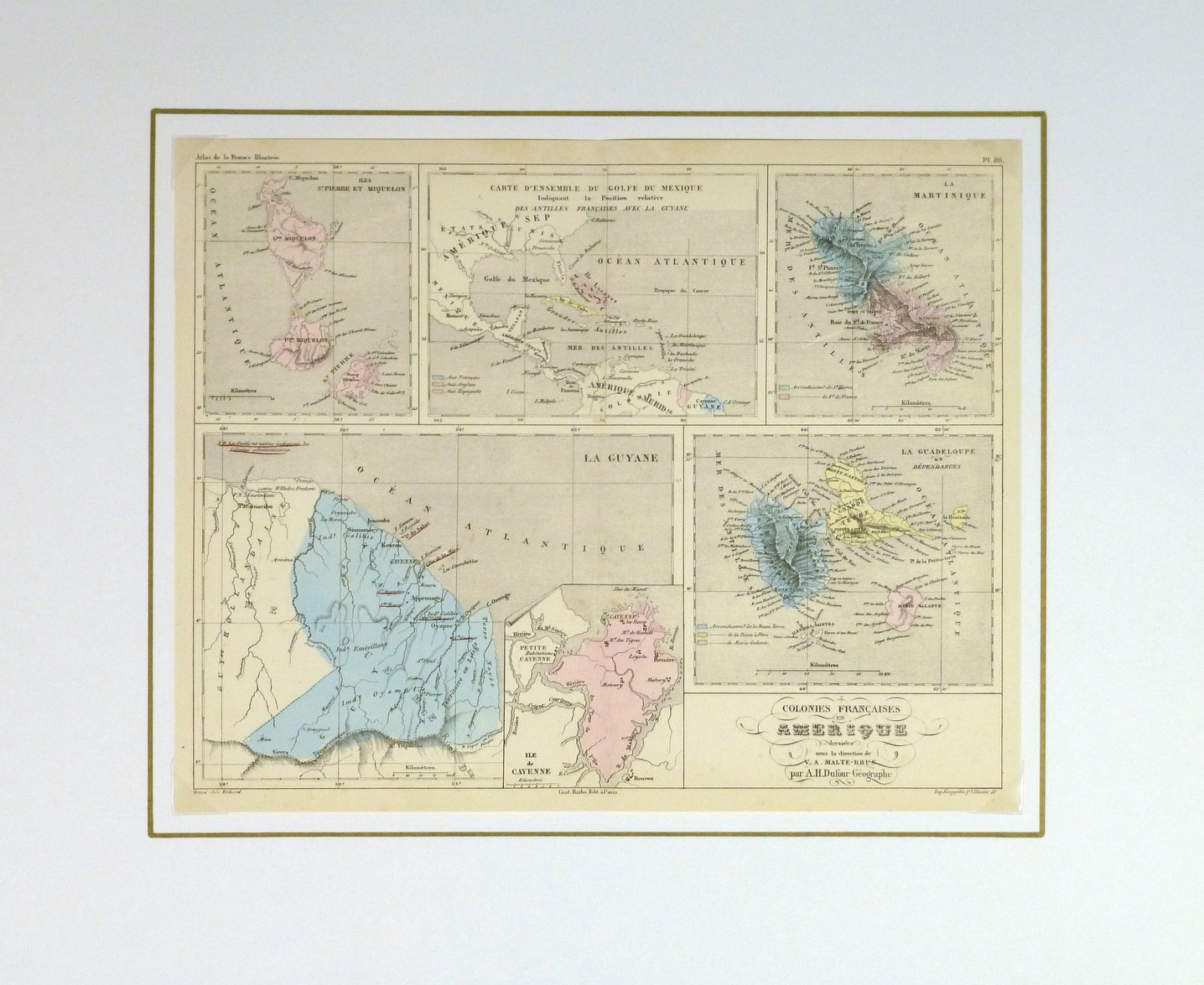 French American Colonies, 1860-matted-8123K