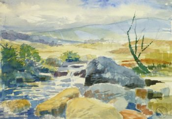 Watercolor Landscape - Burgeoning Spring, Circa 1960-main-8180K
