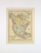 Map of North America, 1876-matted-8192K