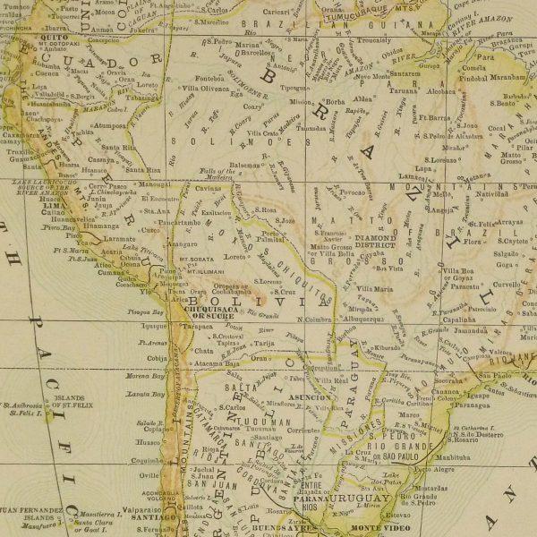 South America Map, 1890-detail-8195K