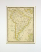 South America Map, 1890-matted-8195K
