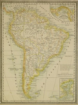 South America Map, 1890-main-8195K
