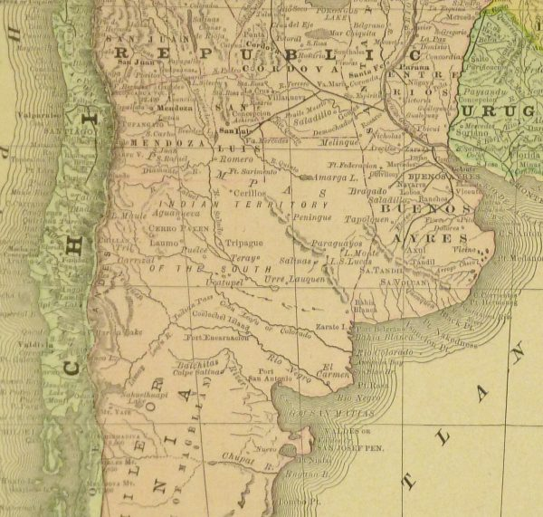 Argentina and Chile, 1890-detail-8197K