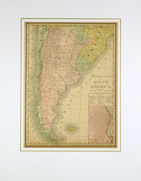 Argentina and Chile, 1890-matted-8197K