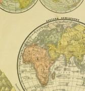 World Hemisphere Map, 1890-detail-8198K