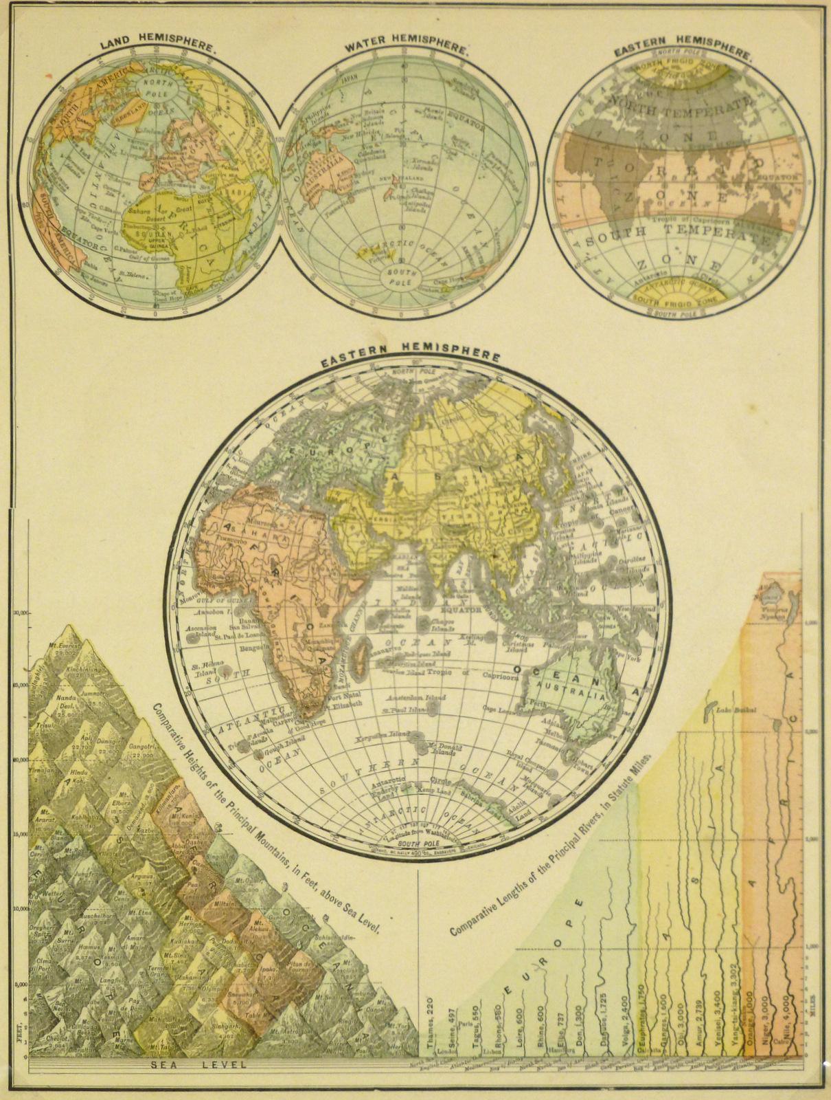 World Hemisphere Map, 1890-main-8198K