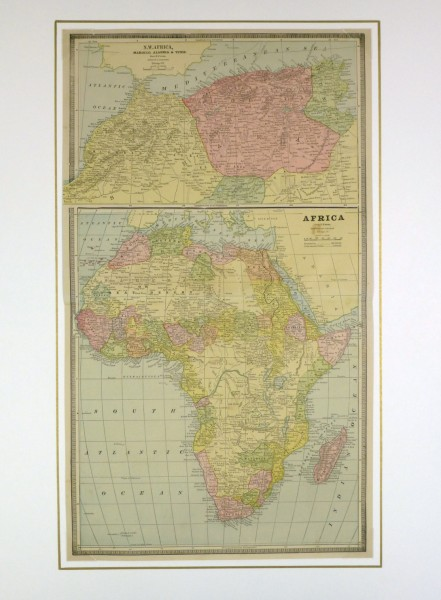 Africa and North Africa Map, 1890-matted-8205K