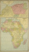 Africa and North Africa Map, 1890-main-8205K